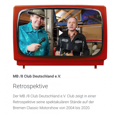 Der Beitrag des Stammtisch Bremen für den MB/8 Club Deutschland e.V.