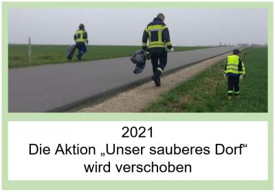 """Die Aktion """"Unser sauberes Dorf"""" wird verschoben"""