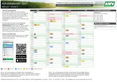 Foto zur Meldung: Neuer Abfuhrkalender ab 12.04.2021