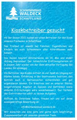 Foto zur Meldung: Das Schwimmbad Waldeck sucht!