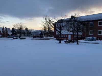 Schneepracht an der Kirchschule