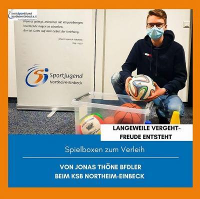 """Projekt: """"Langeweile vergeht - (Bewegungs)Freude entsteht"""" - kostenloser Verleih von Spiel- und Sportboxen an Familien"""
