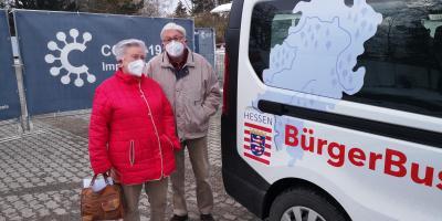 Foto zur Meldung: Bürgerbus der Gemeinde Nauheim fährt auch zum Impfzentrum nach Groß-Gerau
