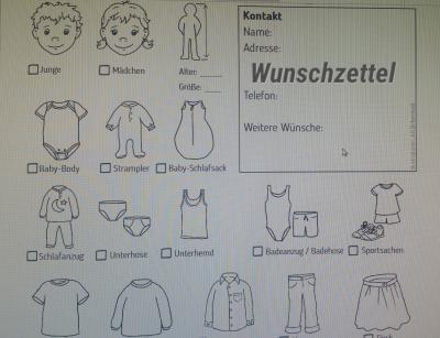Bild der Meldung: Aktion Kleider-Wunschzettel des DKSBes