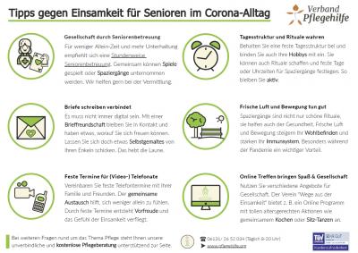 Tipps gegen Einsamkeit für Senioren im Corona-Alltag