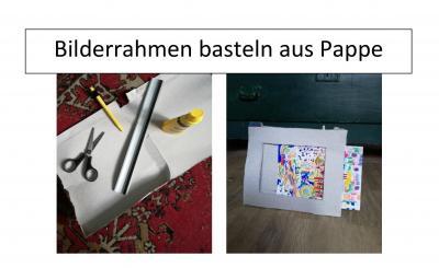 Foto zur Meldung: Bilderrahmen basteln aus Pappe