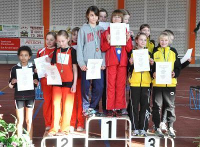 Foto zur Meldung: Leichtathletiknachwuchs erfolgreich bei Hallenbezirksmeisterschaften