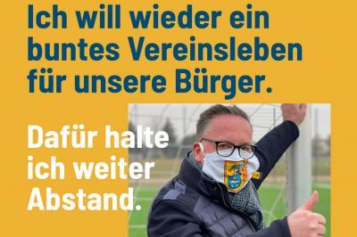 Bürgermeister Helmut Wenzel beteiligt sich an Anzeigenkampagne #FürMichFürOSL, Ausschnitt aus dem Plakat