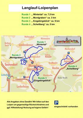 Langlaufloipen in der Verwaltungsgemeinschaft Münchenbernsdorf