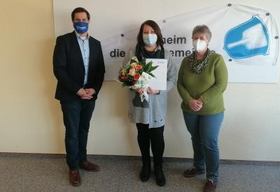 Foto zur Meldung: Herzlichen Glückwunsch, Frau Weißkirchen!