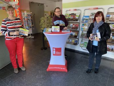Touristinformation Wittenberge | v. l. n. r.: Frauke Spiller-Witt, Steffen Tonello und Sylvia Kieke