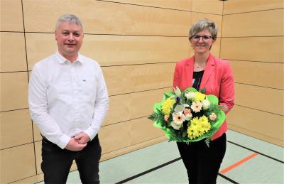 Amtsausschussvorsitzender René Bodack und die neue Amtsdirektorin Kathleen Wilken (Foto: LR M. Feller)