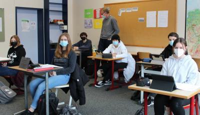 Foto zur Meldung: Schulalltag in der Pandemie