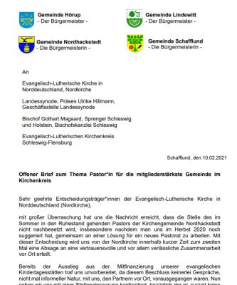 Foto zur Meldung: Offener Brief an Nordkirche