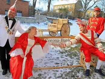 Prinzenpaar vom Schnee ausgebremst