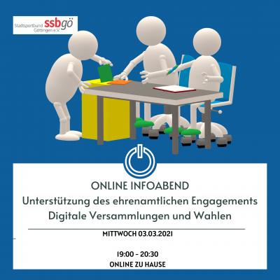 Foto zur Meldung: Online-Infoabend: Digitale Versammlungen und Wahlen