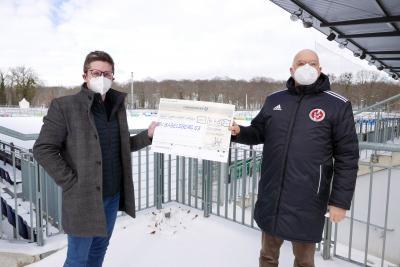 Vorschaubild der Meldung: SV Babelsberg 03 erhält 4.450 Euro für die Talentförderung