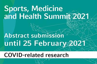 Bild der Meldung: Sports, Medicine and Health Summit 2021: gesondere Beitragseinreichung für COVID19-Themen geöffnet