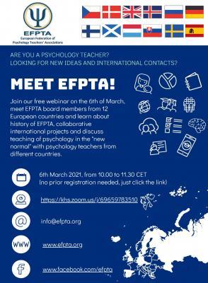 Bild der Meldung: Webinar der EFPTA