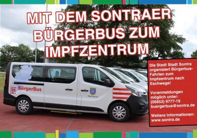 Mit dem Sontraer Bürgerbus zum Impfzentrum nach Eschwege.