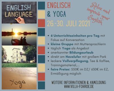 Neu: Englisch & Yoga (Sommerkurs im Juli 2021)