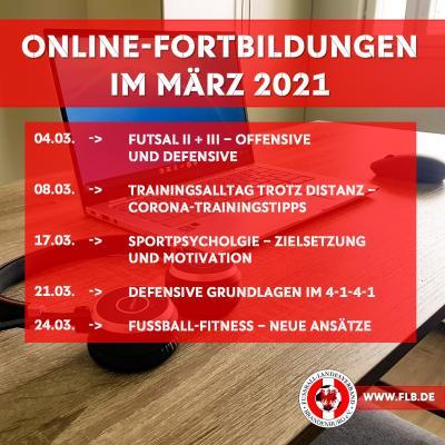 Online-Fortbildungen im März jetzt buchbar!