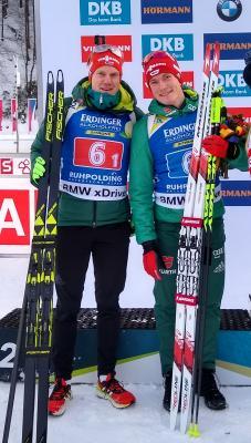 Benedikt Doll und Roman Rees glücklich über ihre gezeigte Leistung zufrieden sein