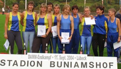 Das war die Mannschaft 2004 die für die LG Neiße den 3. Platz erkämpfte