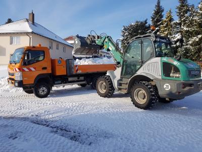 Schnee und Eis hielten den Winterdienst auf Trab.