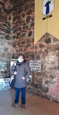 Christian Marlow im imposanten Rittersaal