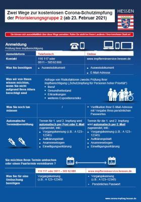 Foto zur Meldung: Impftermine: Registrierung für zweite Impfgruppe ab sofort möglich