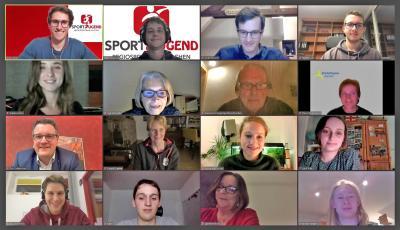 TeilnehmerInnen der digitalen Stipendienübergabe (Foto: Sportjugend RSB Aachen/Martin Lipinski)