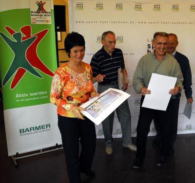 Foto zur Meldung: Ehrung Sportabzeichenwettbewerb 2005