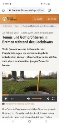 "buten un binnen: ""Mein neuer Sport"""