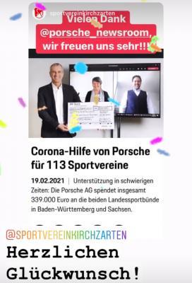 Porsche-Corona Sportförderung