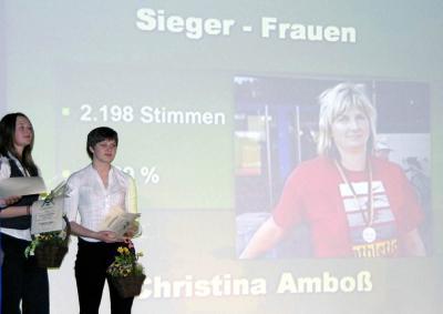 Foto zur Meldung: Christina Amboß ist populärste Sportlerin im NOL