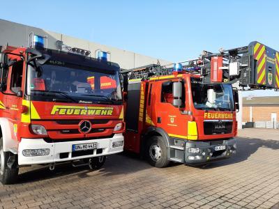 Foto zur Meldung: Feuerwehrfahrzeuge mit Abbiegeassistent