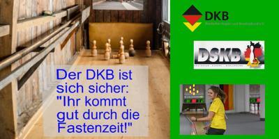 """Der DKB war zur Stippvisite bei den Schere-Keglern beim Online-Training """"Fit im Lockdown""""."""