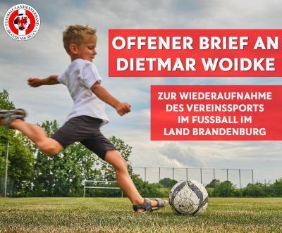 Offener Brief zur Wiederaufnahme des Vereinssports im Fußball in Brandenburg