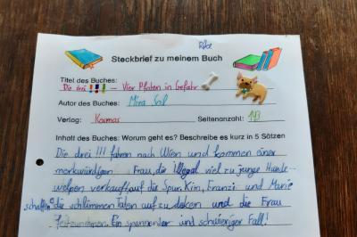 Bild der Meldung: Klasse 4AA: Büchersteckbriefe
