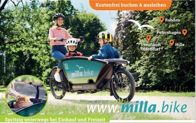 milla.bike - kostenfreier Verleih von Lastenrädern - Eine Initiative des VCD