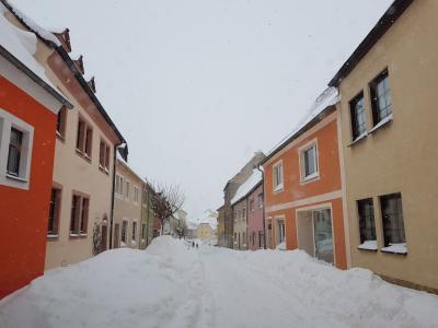 Foto zur Meldung: Wintereinbruch 2021 – Alpine Verhältnisse im Querfurter Land
