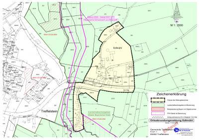 Lageplan zur Ortsabrundungssatzung Edlmühl
