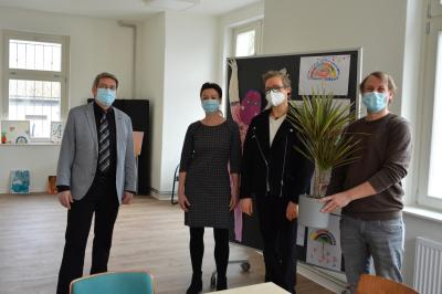 von links: Dr. Oliver Hermann, Nicole Speck, Cornelia Schulze und Steffen Brandes I Foto: Martin Ferch