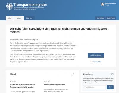 Transparenzregister: Gebührenbefreiung möglich