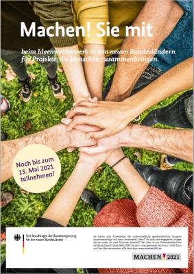 """Foto zur Meldung: Aufruf zum Engagement-Wettbewerb """"MACHEN!2021"""""""