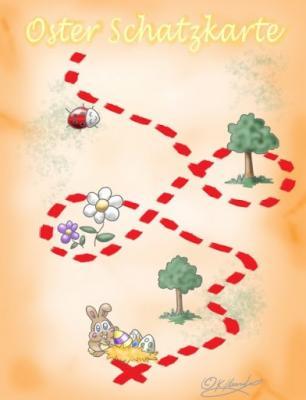 Ostereier Schnitzeljagd Karte