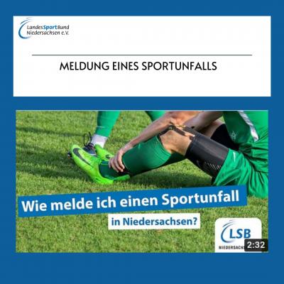 Foto zur Meldung: YouTube Tutorial: Meldung eines Sportunfalls in Niedersachsen