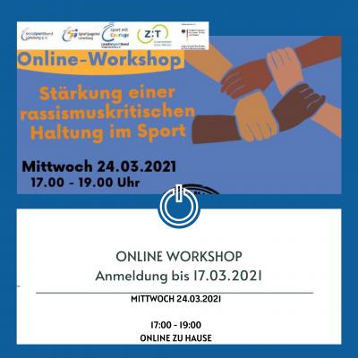 Bild der Meldung: Online Workshop: Stärkung einer rassismuskritischen Haltung im Sport am Mi. 24.03.2021