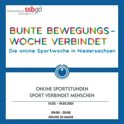 Bild der Meldung: Bunte Bewegungswoche - Online Sport für Alle - 15.03.-19.03.21